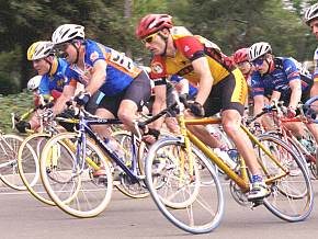 Pete in a bicycle race.
